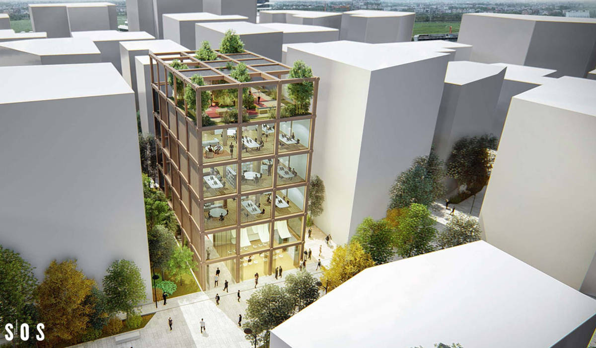 School of Sustainability Students win the first prize in a competition for a green office building in Changzhou, China