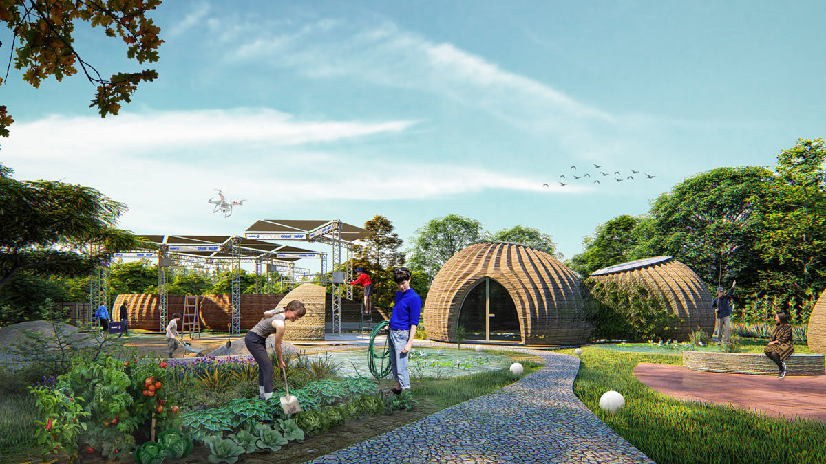 Mario Cucinella Architects and WASP start on site with TECLA. A prototype 3D printed global habitat for sustainable living