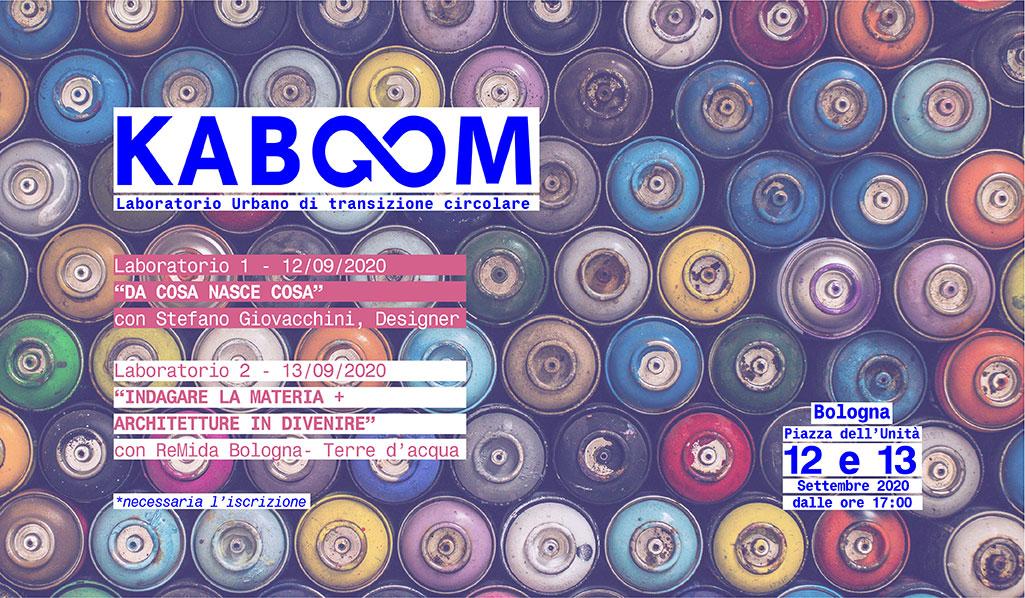 KABOOM, aperte le iscrizioni ai Laboratori Creativi di Economia Circolare